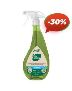 GO GREEN Засіб для чищення акрилових ванн і душевих кабін «Синій льон» 0,5 л від Фрекен БОК
