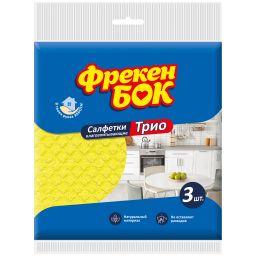 Фрекен БОК Серветки целюлозні Трио 3 шт.