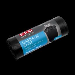 Пакет для сміття PRO service Standard з затяжкою чорний HD, 35л/15шт