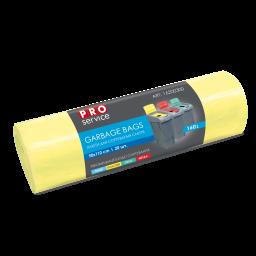 Пакет PRO service Standard для сортування ПЛАСТИКУ жовтий LD, 160л/20шт