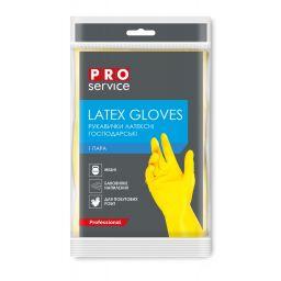 Перчатки PRO service Standard латексные желтые, M (1 пара)