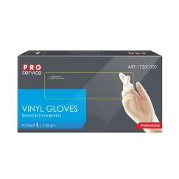Перчатки PRO service Professional виниловые, L (100 шт)