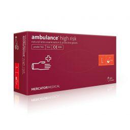 Перчатки латексные Mercator Medical Ambulance High Risk, 50шт, L