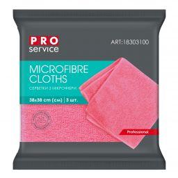 Серветки з мікрофібри PRO service Professional рожеві, 3 шт