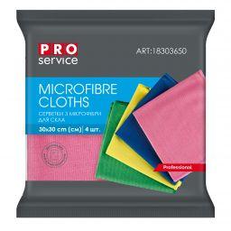 Салфетки из микрофибры PRO service Standard для стекла микс цветов, 5 шт