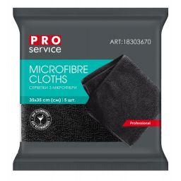 Салфетки из микрофибры PRO service Standard черные, 5 шт
