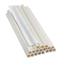 PRO Паперова соломинка,(iндивiдуальна упаковка) L-204мм, D-6мм бiла, 500 шт/уп