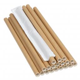 PRO Паперова соломинка,(iндивiдуальна упаковка) L-204мм, D-6мм крафт, 500 шт/уп