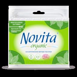 NOVITA Organic Палочки ватные в полиэтиленовом пакете 100шт