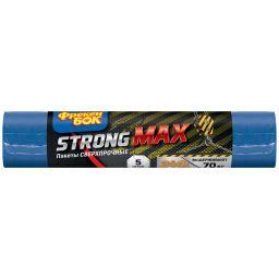 Фрекен БОК Сверхпрочные пакеты для мусора STRONG MAX 240л/5шт. сине-черные