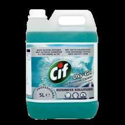Универсальное средство Cif Professional на основе активного кислорода для водостойких поверхностей Дикий океан, 5л