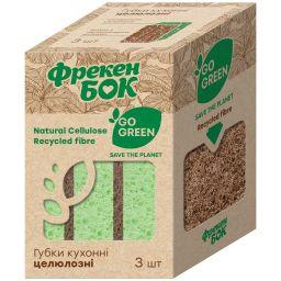 Фрекен БОК Губка кухонная GO GREEN 3 шт.