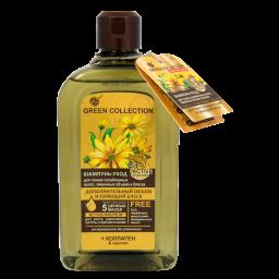 Шампунь-догляд для волосся GREEN COLLECTION Додатковий об`єм та сяючий блиск, 500 мл