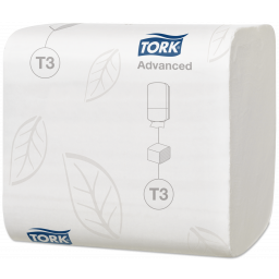 Папір туалетний Tork Advanced в аркушах 2 шари, 242 аркуши (Т3)