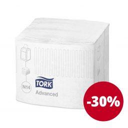 Серветки Tork Xpressnap® Fit для диспенсерів 2 шари, 720 аркушів, білі (N14)