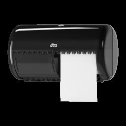 Диспенсер Tork для туалетной бумаги на 2 стандартный рулона, черный (Т4)
