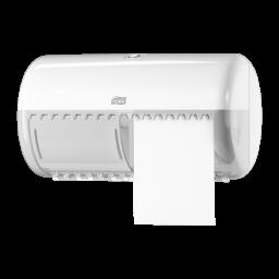 Диспенсер Tork для туалетного паперу на 2 стандартних рулони, білий (Т4)