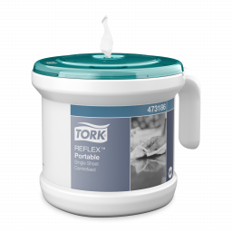 Переносной диспенсер Tork Reflex для полотенец с центральной вытяжкой белый (M4)