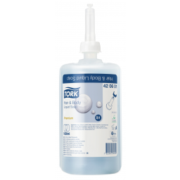 Рідке мило-шампунь Tork Premium для тіла та волосся косметичне, 1л (S1)
