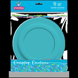 Тарелки картонные одноцветные МИКС EVENTA 23 см, 10 шт.