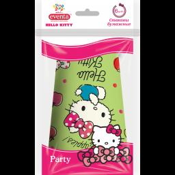 Стакани паперові Hello Kitty МІКС, EVENTA 250 мл, 6 шт.