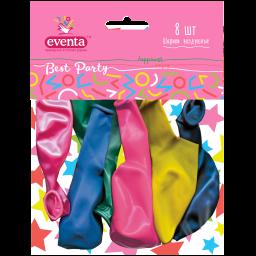 Кульки повітряні різнокольрові перламутрові EVENTA 30 см, 8 шт.