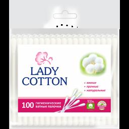 Палички ватні в поліетиленовому пакеті Lady Cotton 100шт