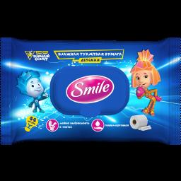 Вологий туалетний папір Smile Фіксики 44 шт.