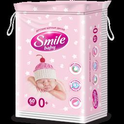 Косметичні ватні пластини дитячі SMILE 60 шт.