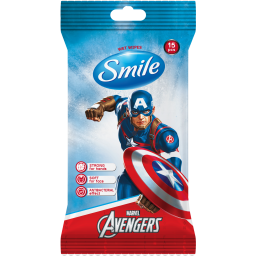 Вологі серветки Smile Marvel з антибактеріальним ефектом 15 шт.
