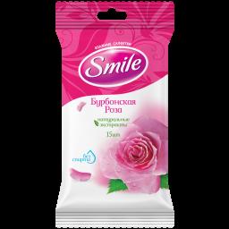 Влажные салфетки Smile Daily Бурбонская роза 15 шт.