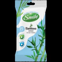 Влажные салфетки Smile Natural с экстрактом бамбука 15 шт.