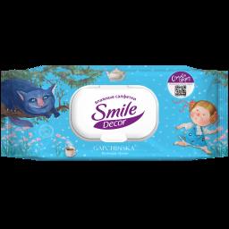 Вологі серветки Smile Décor Gapchinska з доповненою реальністю 60 шт.