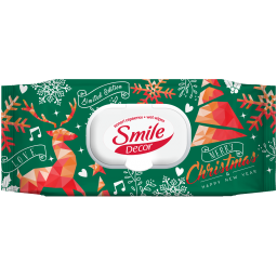 Вологі серветки Smile Décor New Year Limited Edition 60 шт.