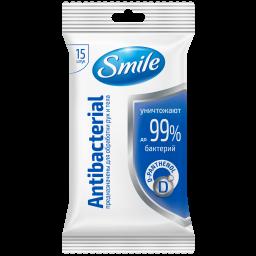 Вологі серветки Smile Antibacterial з Д-пантенолом 15 шт.