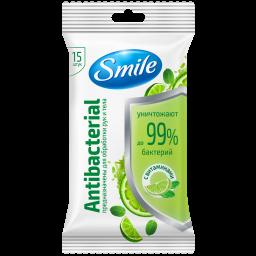Вологі серветки Smile Antibacterial з вітамінами 15 шт.
