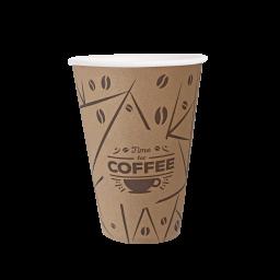 "PRO Стакан паперовий 340мл, ""Coffee Time"", 50 шт/уп"