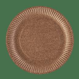 PRO Тарелка бумажная круглая крафт, 23см, 50шт / уп