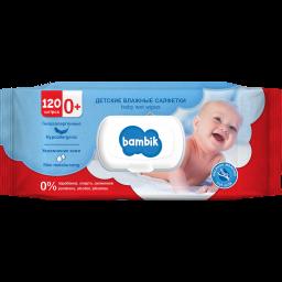 Влажные салфетки ТМ Bambik детские с овсяным молочком 120 шт.