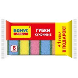 БОНУС Губка кухонна 5+1 шт.