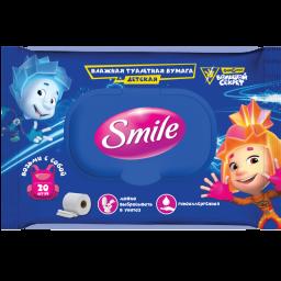 Вологий туалетний папір Smile Фіксики 20 шт.