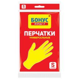 БОНУС Перчатки латексные желтые 1 пара, S