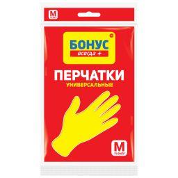 БОНУС Рукавички латексні жовті 1 пара, M