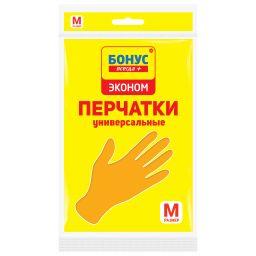 БОНУС Перчатки латексные 1 пара, M