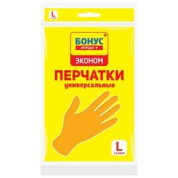 БОНУС Перчатки латексные 1 пара, L