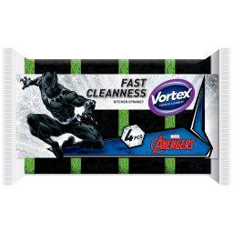 Vortex губка кухонна черна 4 шт Marvel