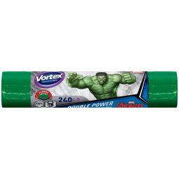 Vortex пакеты для мусора двухслойные 240л/5 шт Hulk