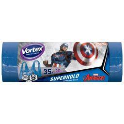 Vortex пакеты для мусора с ручками 35л/20 шт Capitan America