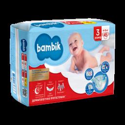 Подгузники детские одноразовые Jumbo (3) MIDI (4-9 кг), TM Bambik
