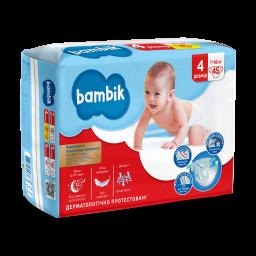 Підгузки дитячі одноразові Jumbo (4) MAXI (7-18 кг), TM Bambik